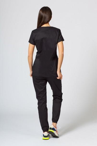 komplety-medyczne-damskie Komplet medyczny Sunrise Uniforms Active czarny (z bluzą Kangaroo - elastic)