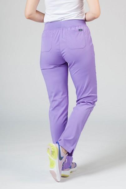 spodnie-medyczne-damskie Spodnie damskie Adar Uniforms Leg Yoga lawendowe
