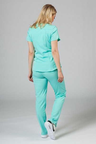 komplety-medyczne-damskie Komplet medyczny Adar Uniforms Yoga aqua (z bluzą Modern - elastic)