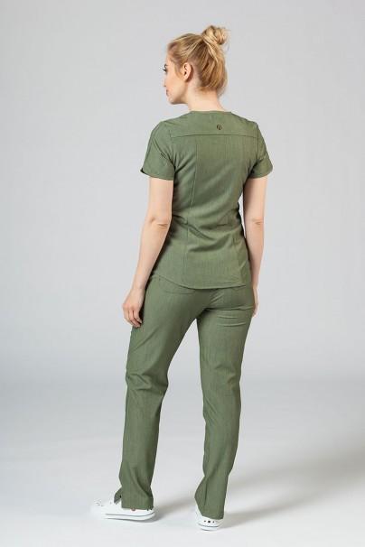 komplety-medyczne-damskie Komplet medyczny Adar Uniforms Yoga oliwkowy (z bluzą Modern - elastic)