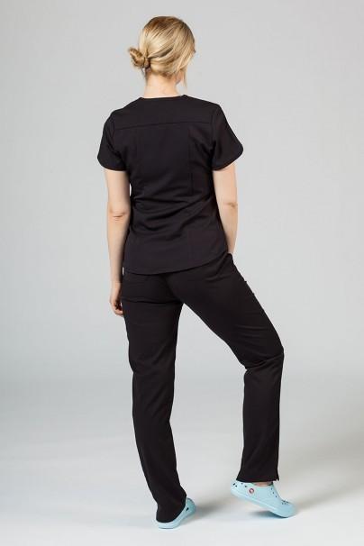 komplety-medyczne-damskie Komplet medyczny Adar Uniforms Yoga czarny (z bluzą Modern - elastic)