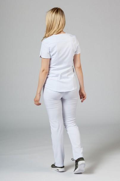 komplety-medyczne-damskie Komplet medyczny Adar Uniforms Yoga biały (z bluzą Modern - elastic)
