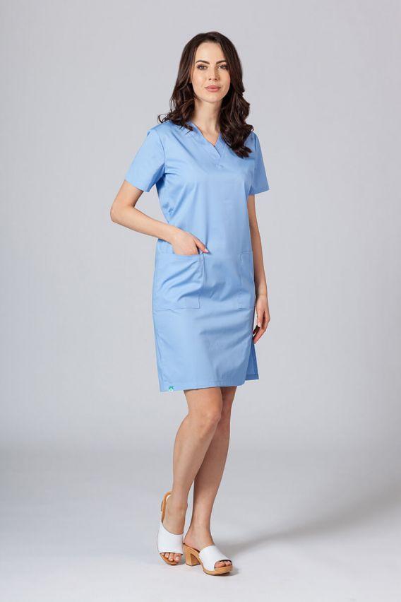 sukienki Sukienka medyczna damska prosta Sunrise Uniforms niebieska