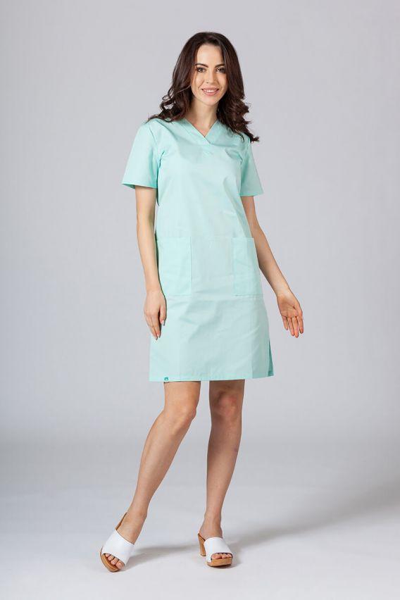 sukienki Sukienka medyczna damska prosta Sunrise Uniforms miętowa