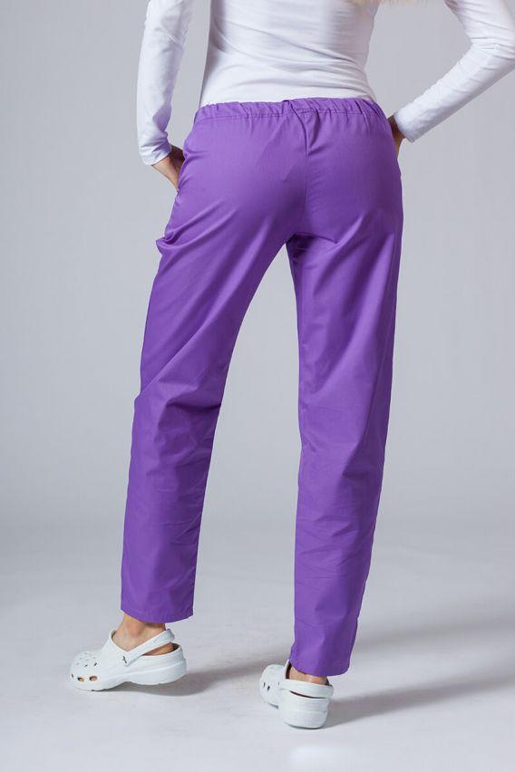 spodnie-medyczne-damskie Spodnie medyczne uniwersalne Sunrise Uniforms fioletowe
