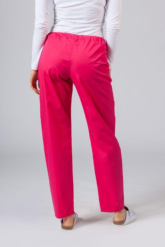 spodnie-medyczne-damskie Spodnie medyczne uniwersalne Sunrise Uniforms malinowe