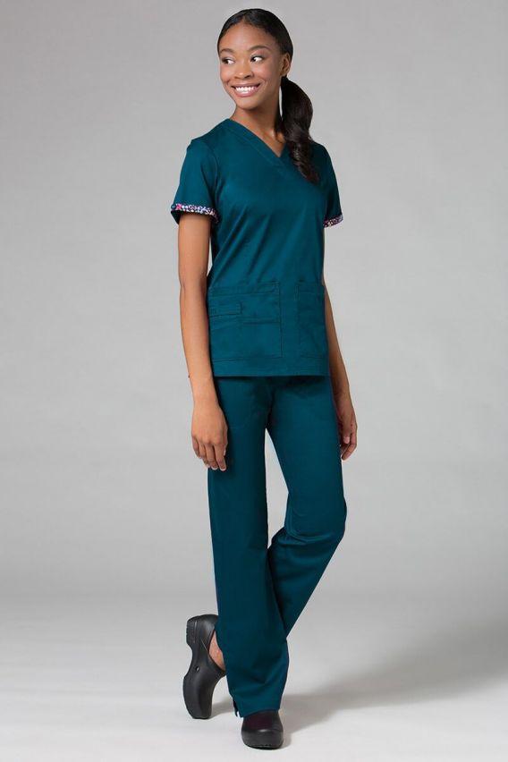 bluzy-medyczne-damskie Bluza damska Maevn PrimaFlex karaibski błękit