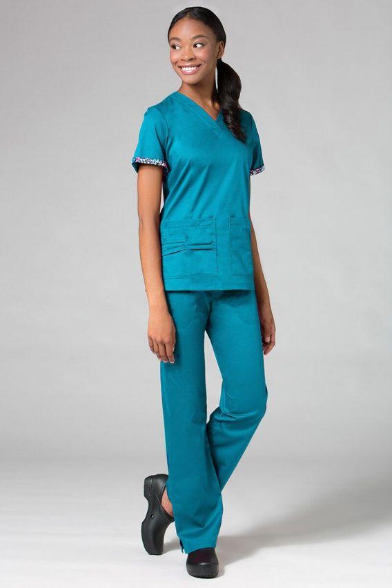 bluzy-medyczne-damskie Bluza damska Maevn PrimaFlex morski błękit