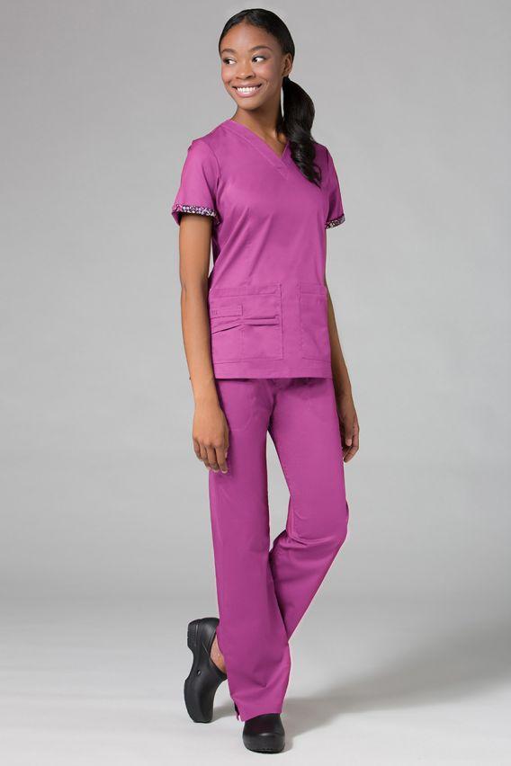 spodnie-medyczne-damskie Spodnie medyczne damskie Maevn PrimaFlex orchidea