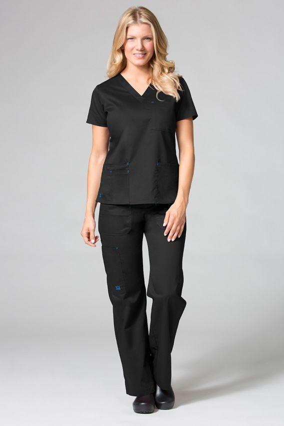 spodnie-medyczne-damskie Spodnie medyczne damskie Maevn Blossom (elastic) czarne