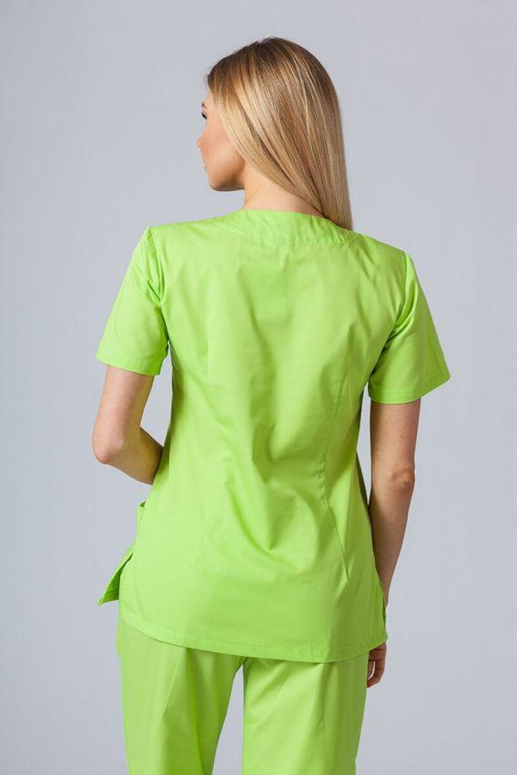 bluzy-medyczne-damskie Bluza medyczna damska Sunrise Uniforms limonka taliowana