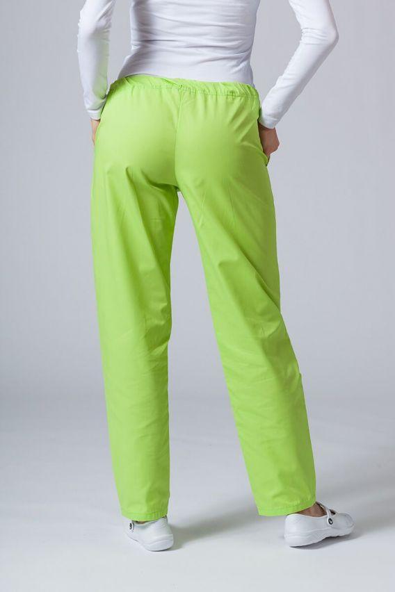 spodnie-medyczne-damskie Spodnie medyczne uniwersalne Sunrise Uniforms limonkowe