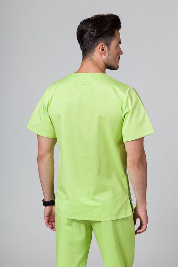 bluzy-medyczne-meskie Bluza medyczna uniwersalna Sunrise Uniforms limonka