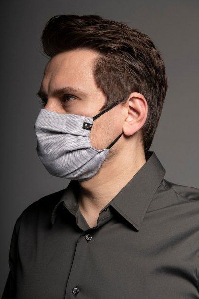 maski-ochronne Maska ochronna Classic, 2-warstwowa z kieszonką na filtr (100% bawełna), unisex, szara