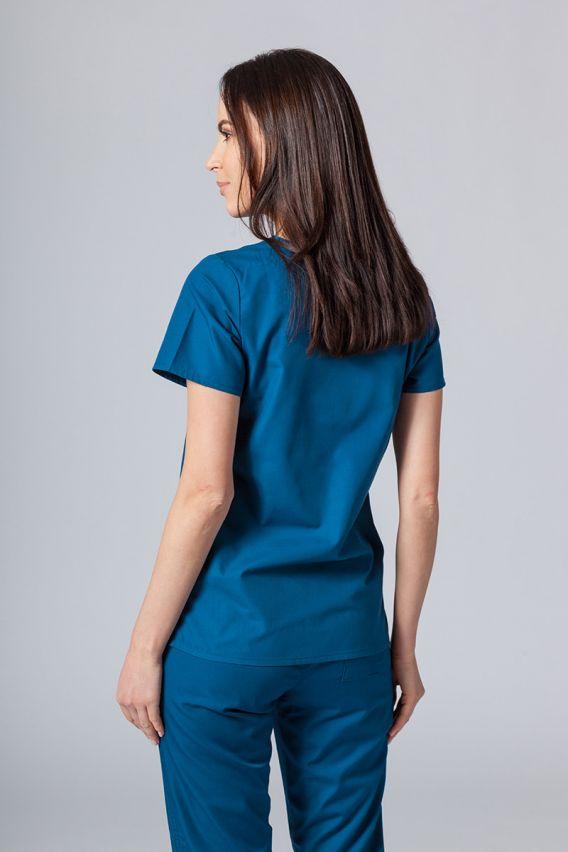 bluzy-medyczne-damskie Bluza damska Maevn Red Panda karaibski błękit