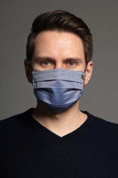 maski-ochronne Maska ochronna Classic, 2-warstwowa z kieszonką na filtr (100% bawełna), unisex, niebieska