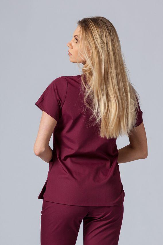 bluzy-medyczne-damskie Bluza damska Maevn Red Panda wiśniowa