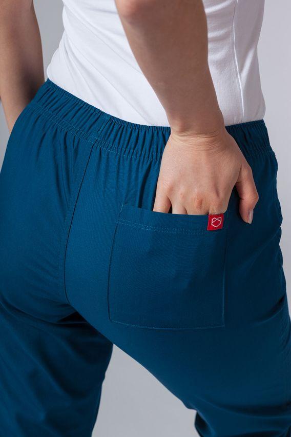 spodnie-medyczne-damskie Spodnie damskie Maevn Red Panda karaibski błękit