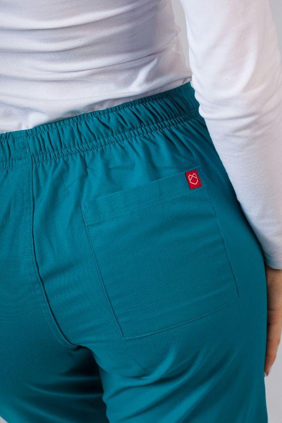 spodnie-medyczne-damskie Spodnie damskie Maevn Red Panda morski błękit