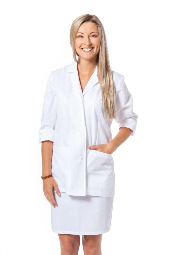 fartuchy-medyczne-damskie Fartuch medyczny damski  3/4 Maevn Red Panda biały
