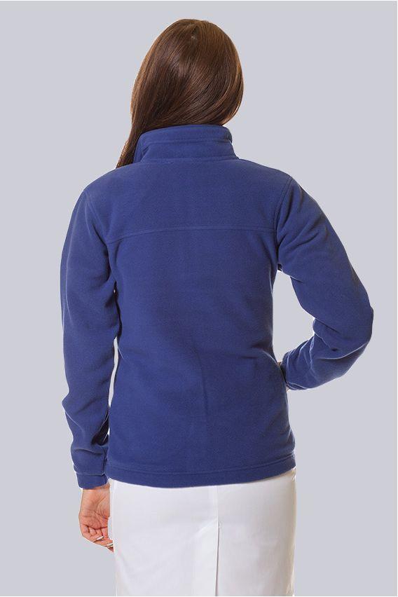 bluzy-polarowe-damskie Bluza polarowa damska chabrowa