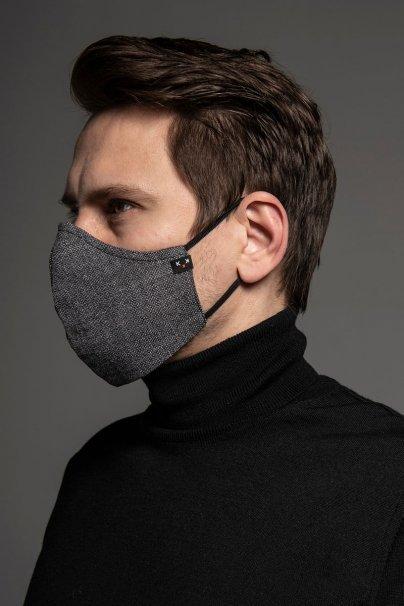maski-ochronne Maska ochronna Heritage, 2-warstwowa (70% bawełna, 30% len) z bambusowym wnętrzem, unisex, szara