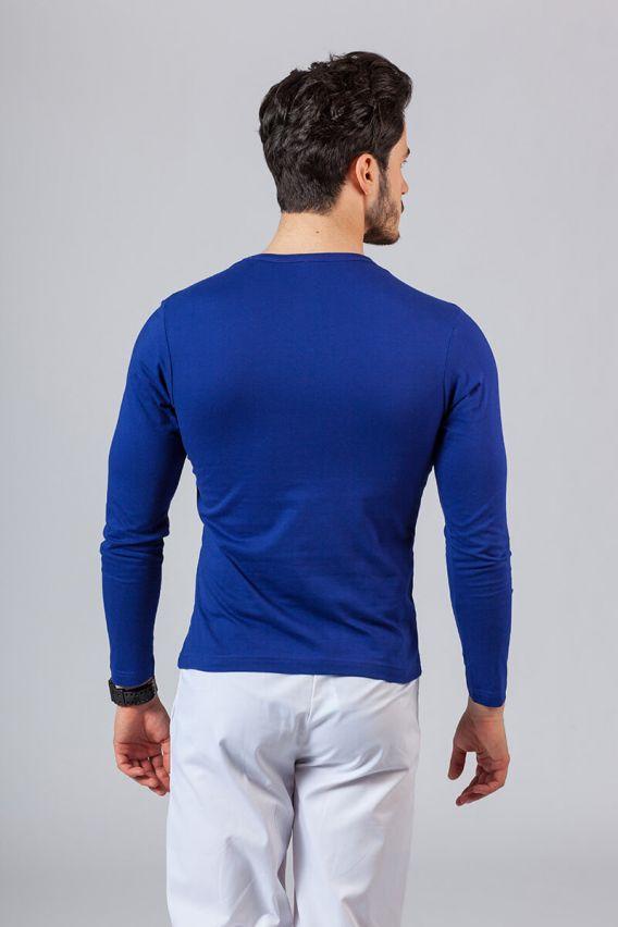 koszulki-medyczne-meskie Koszulka męska z długim rękawem chabrowa