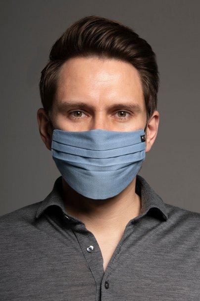 maski-ochronne Maska ochronna Canvas, 2-warstwowa (100% bawełna), unisex, niebieska