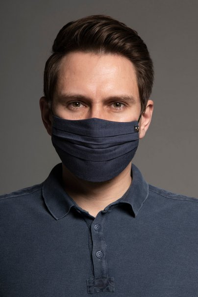 maski-ochronne Maska ochronna Canvas, 2-warstwowa (100% bawełna), unisex, granatowa