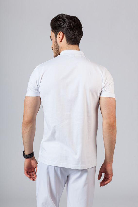 koszulki-medyczne-meskie Koszulka męska Polo biała