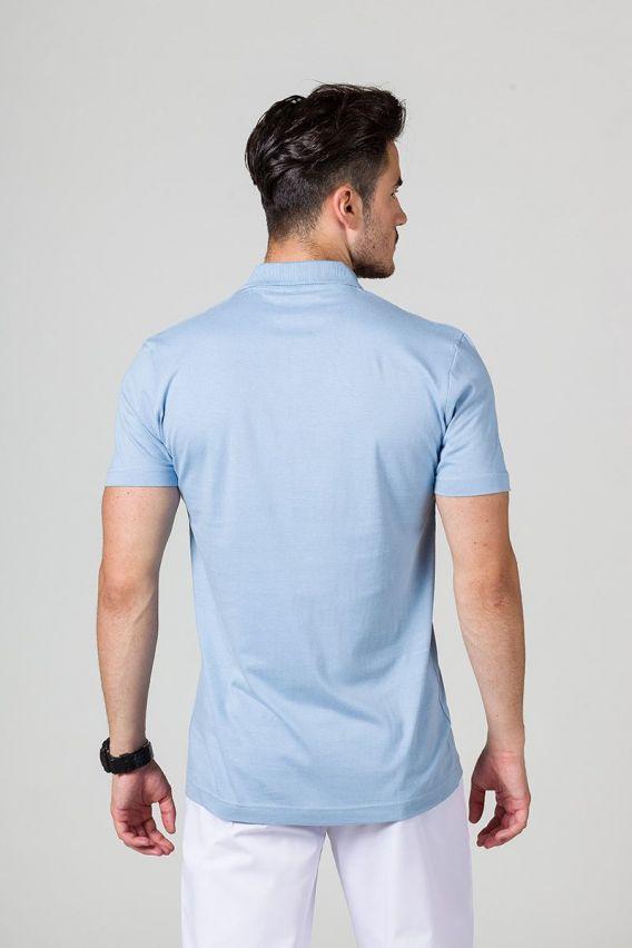 koszulki-medyczne-meskie Koszulka męska Polo niebieska