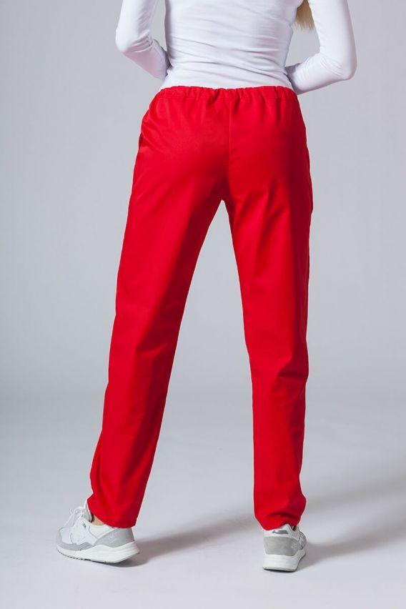 spodnie-medyczne-damskie Spodnie medyczne uniwersalne Sunrise Uniforms czerwone