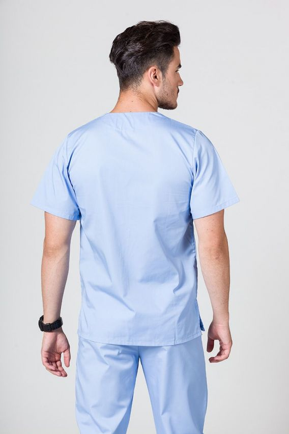 bluzy-medyczne-meskie Bluza medyczna uniwersalna Sunrise Uniforms niebieska