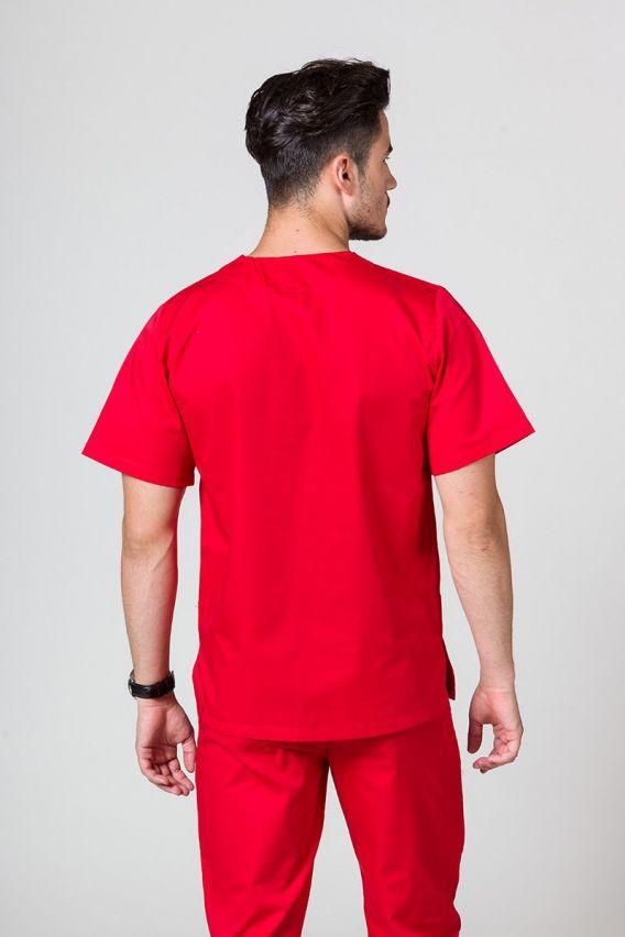 bluzy-medyczne-meskie Bluza medyczna uniwersalna Sunrise Uniforms czerwona