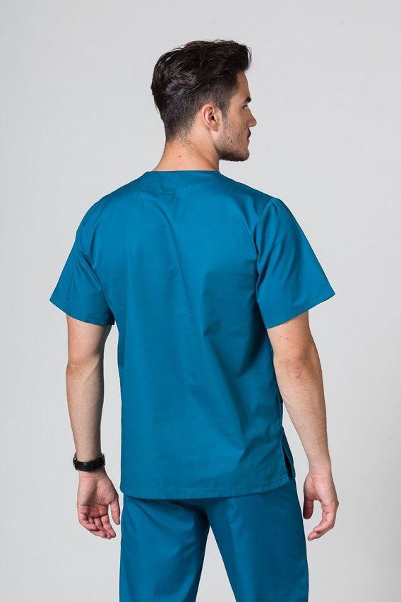 bluzy-medyczne-meskie Bluza medyczna uniwersalna Sunrise Uniforms karaibski błękit