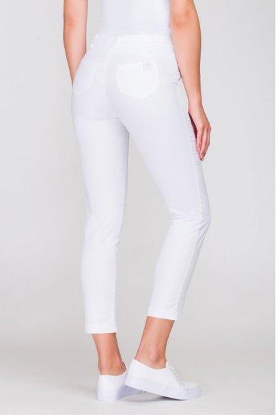 spodnie-medyczne-damskie Spodnie medyczne damskie Vena Cygaretki białe