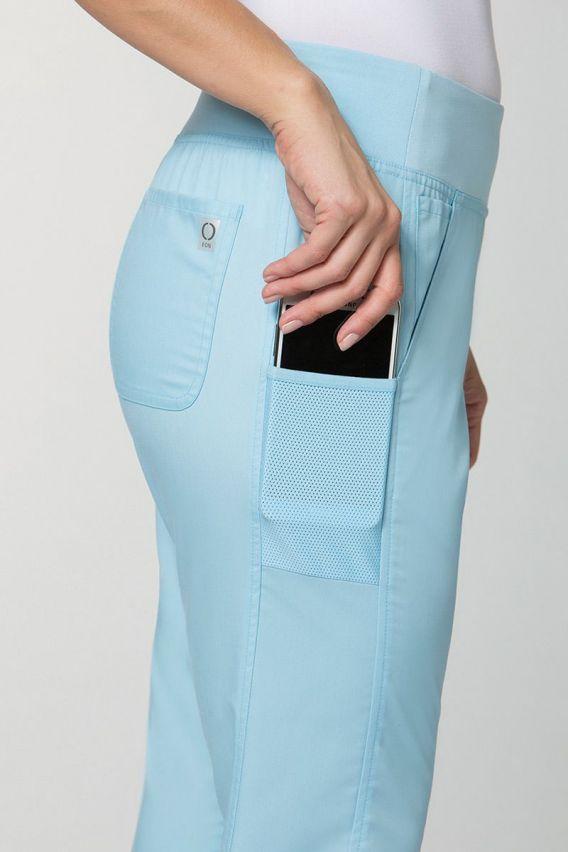 spodnie-medyczne-damskie Spodnie damskie Maevn EON Classic Yoga błękitne