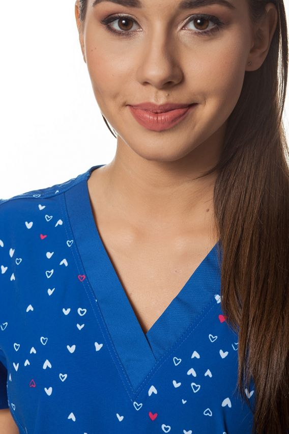 bluzy-we-wzory Kolorowa bluza damska Maevn Prints Mini Serca