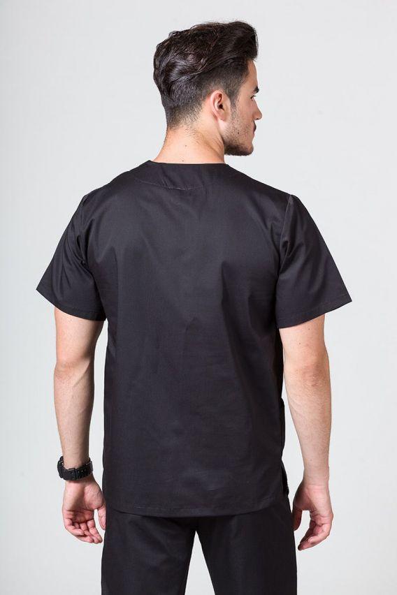bluzy-medyczne-meskie Bluza medyczna uniwersalna Sunrise Uniforms czarna