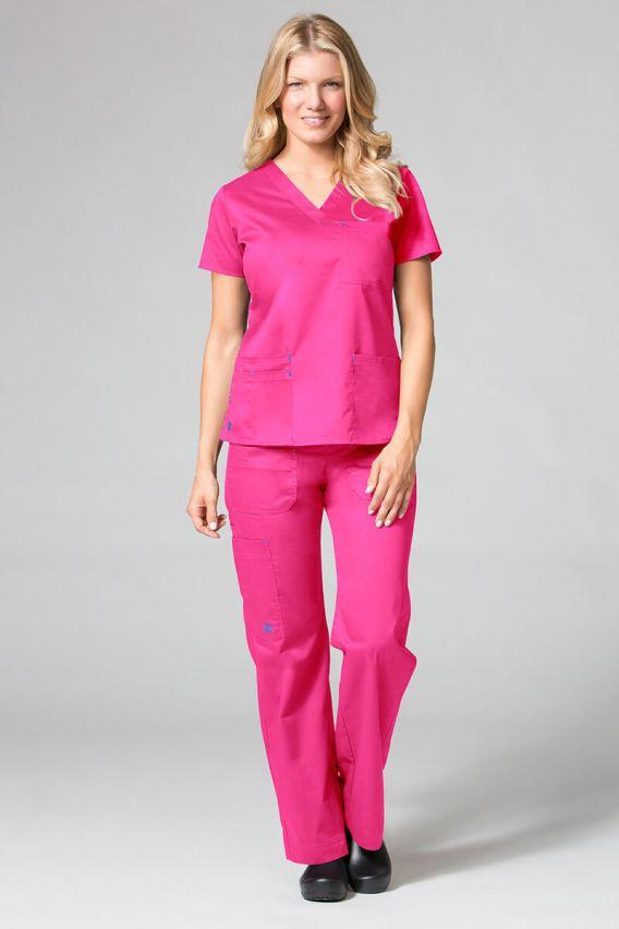 spodnie-medyczne-damskie Spodnie medyczne damskie Maevn Blossom (elastic) różowe