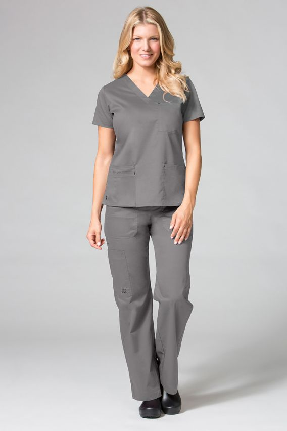 spodnie-medyczne-damskie Spodnie medyczne damskie Maevn Blossom (elastic) szare