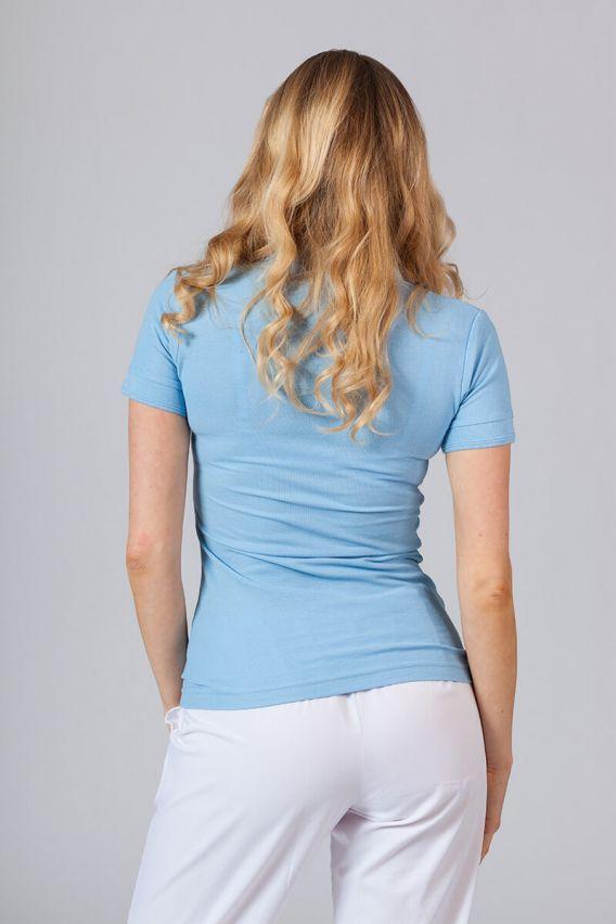 polo-damskie Koszulka damska Polo niebieska