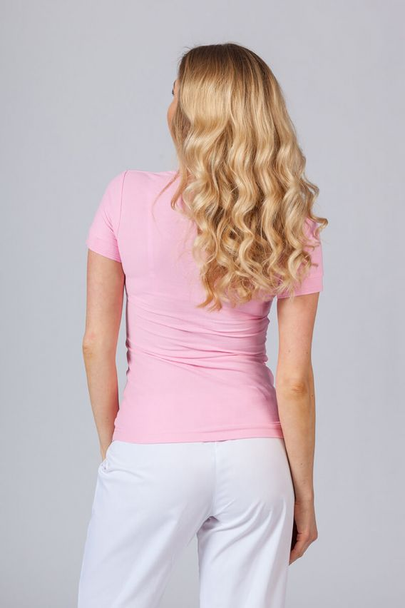 polo-damskie Koszulka damska Polo różowa