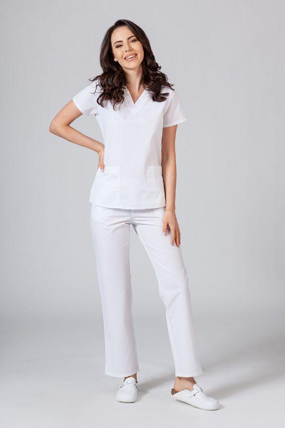 bluzy-medyczne-damskie Bluza damska Maevn Red Panda biała