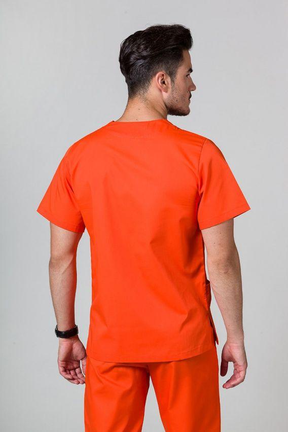 bluzy-medyczne-meskie Bluza medyczna uniwersalna Sunrise Uniforms pomarańczowa