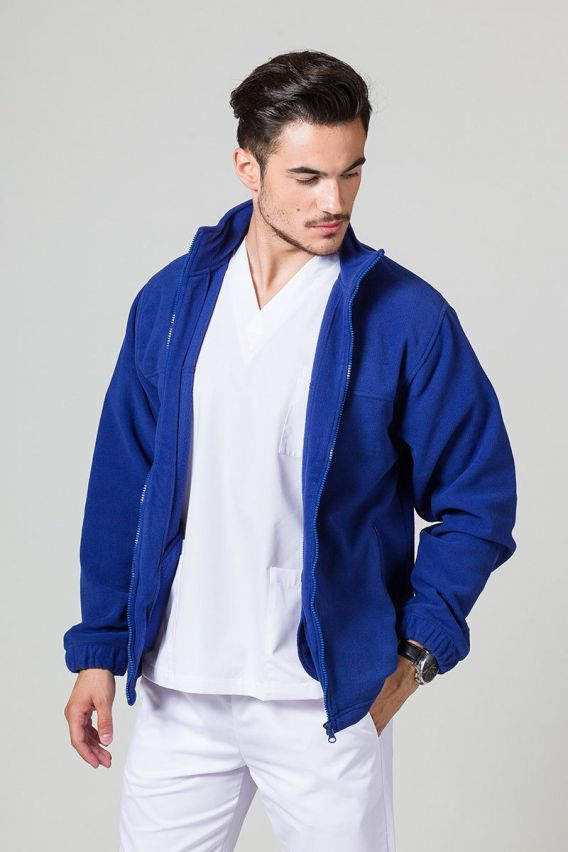 bluzy-polarowe-meskie Bluza polarowa męska chabrowa