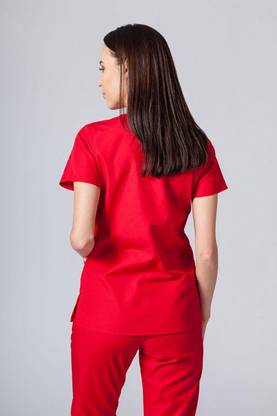bluzy-medyczne-damskie Bluza damska Maevn Red Panda czerwona