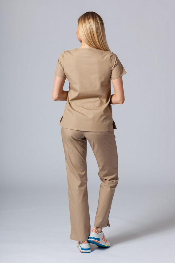 bluzy-medyczne-damskie Bluza damska Maevn Red Panda beżowa