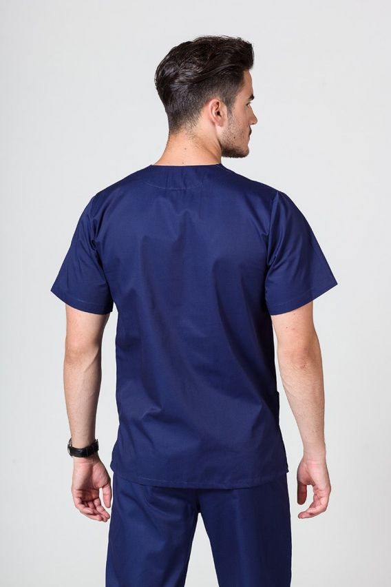 bluzy-medyczne-meskie Bluza medyczna uniwersalna Sunrise Uniforms ciemny granat