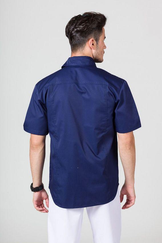 bluzy-medyczne-meskie Klasyczna bluza medyczna męska ciemny granat